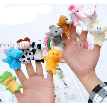 Custom Kids Children Animal Plush Hand Finger Puppet Toy